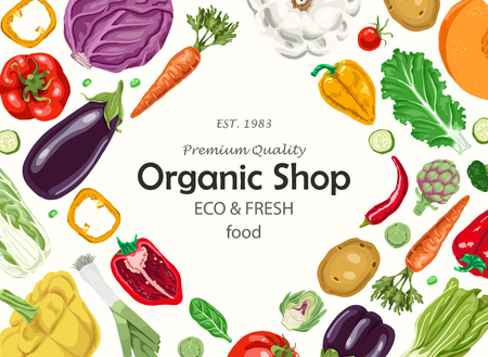 Horizontal background with vegetables.