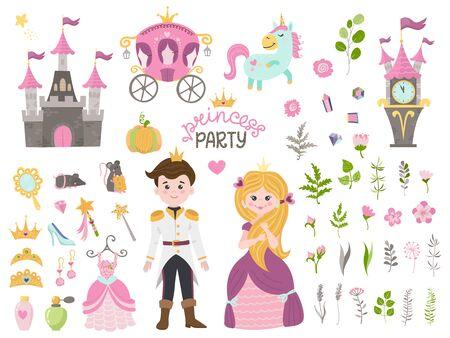Cute little princess Cinderella set objects
