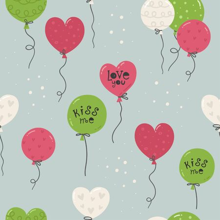 Seamless pattern with balloons