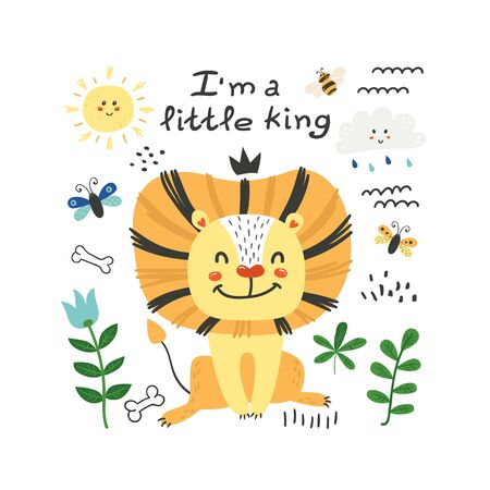 Cute poster with lion
