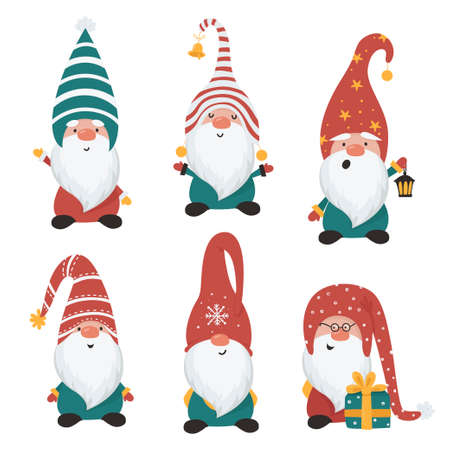Christmas gnomes set