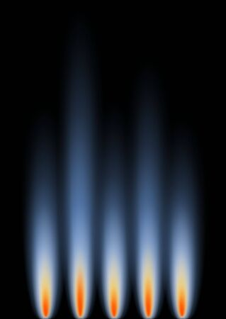 representative: An abstract background in portrait format, representative gas flames. Stock Photo