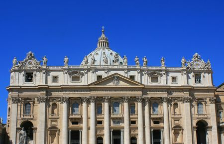 vicar: Basilica S.Pietro Rome Italy. Stock Photo