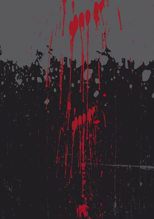 A graphic a black grunge styled background, with blood dripping from above. Room for copy to top of image.