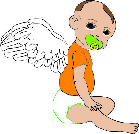 baby angel: Baby angel Illustration
