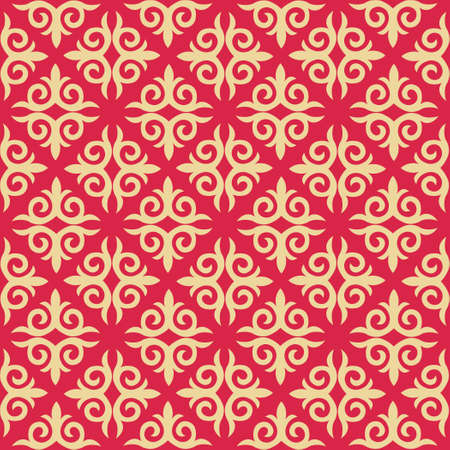 Decorative seamless pattern with ethnic element. Kyrgyz and Kazakh ornaments. Texture for background, holiday cards, invitations, wallpaper, pattern fills, fabrics, gift wrapping, textile. Vector. Çizim