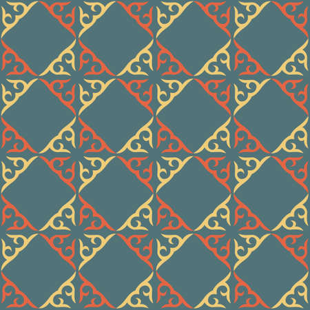 Decorative seamless pattern with ethnic element. Kyrgyz and Kazakh, Uzbek, Tatar, Yakut ornaments. Texture for background, wallpaper, holiday, fabrics, gift wrapping, home textile. Vector.