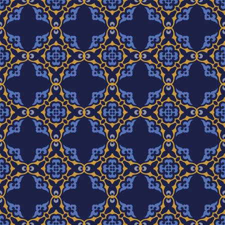 Decorative Asian Folk Seamless Pattern. Traditional Ornament of Asian Nomads: Kyrgyz, Kazakhs, Bashkirs, Tatars, Yakut, Mongols. Ethnic Vector Illustration for Paper Products, Textiles. Illusztráció