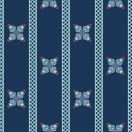 Decorative Asian Folk Seamless Pattern. Ornament of Asian Nomads: Kyrgyz, Kazakhs, Bashkirs, Tatars, Yakut, Mongols. Ethnic Vector Illustration for Paper Products, Textiles. Stock fotó - 157589271
