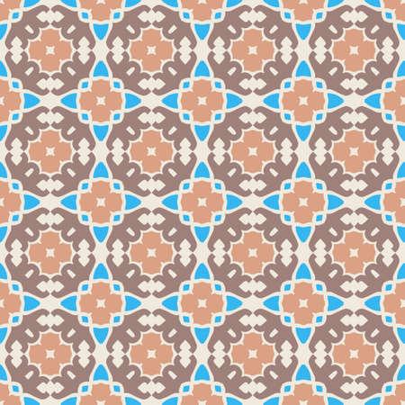 Classic Pattern Ornament, Decorative Seamless Geometric Pattern for Design Wallpaper, Fashion Print, Trendy Decor, Home Textile, Retro Decor Vector Illustration.