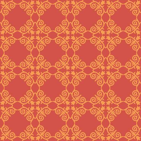 Decorative Asian Folk Seamless Pattern. Ornament of Asian Nomads: Kyrgyz, Kazakhs, Bashkirs, Tatars, Yakut, Mongols. Ethnic Vector Illustration for Paper Products, Textiles.