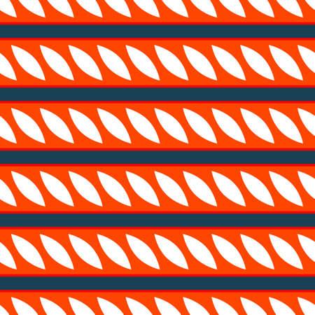 Classic Color Pattern, Decorative Seamless Geometric Pattern for Design Wallpaper, Fashion Print, Trendy Decor, Home Textile, Retro Decor Vector Illustration.