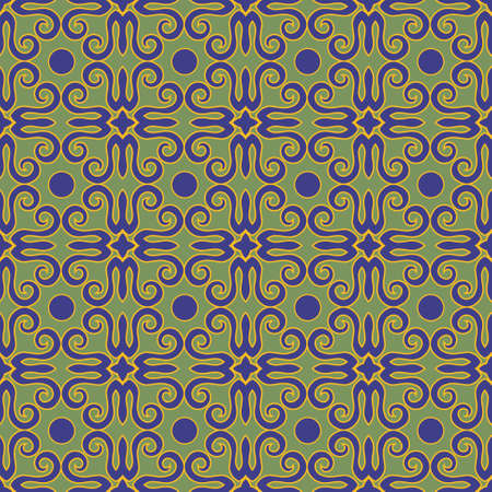Decorative seamless pattern with beautiful texture designs can be used for backgrounds, motifs, home textile, wallpapers, fabrics, gift wrapping, templates. Design Paper For Scrapbook. Vector. Stock fotó - 158038894