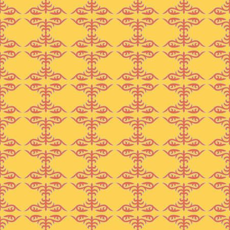 Decorative Asian Folk Seamless Pattern. Ornament of Asian Nomads: Kyrgyz, Kazakhs, Bashkirs, Tatars, Yakut, Mongols. Ethnic Vector Illustration for Paper Products, Textiles. Stock fotó - 158038898