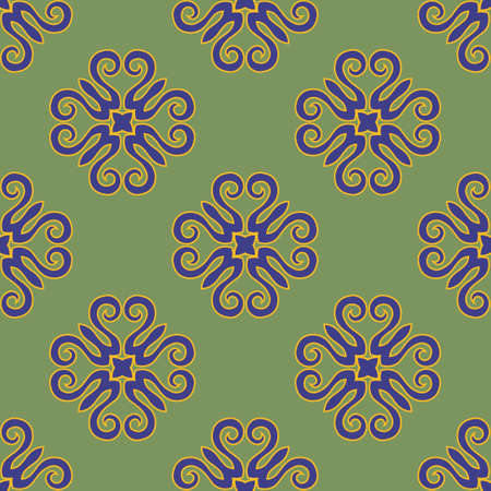 Decorative seamless pattern with beautiful texture designs can be used for backgrounds, motifs, home textile, wallpapers, fabrics, gift wrapping, templates. Design Paper For Scrapbook. Vector. Illusztráció
