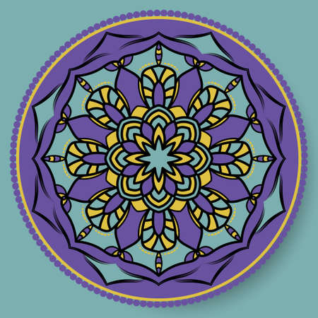 Decorative Round Pattern. Mandala. Ornamental design element of Asian, Indian, Pakistan. Ethnic Vector Illustration for Paper Products, Textiles.