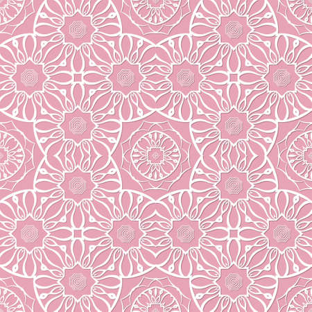 Decorative seamless pattern with beautiful abstract texture designs can be used for backgrounds, motifs, home textile, wallpapers, fabrics, gift wrapping, templates. Design Paper For Scrapbook. Vector Illusztráció