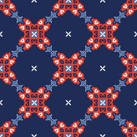lassic Pattern Ornament, Seamless Floral Geometric Pattern for Design Wallpaper, Fashion Print, Trendy Decor, Home Textile, Retro Decor Vector Illustration.