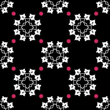 Classic Pattern Ornament, Decorative Seamless Floral Geometric Pattern for Design Wallpaper, Fashion Print, Trendy Decor, Home Textile, Retro Decor Vector Illustration. Illusztráció