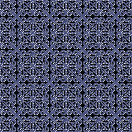 Decorative Asian Folk Seamless Pattern with scribble effect. Ornament of Asian Nomads: Kyrgyz, Kazakhs, Bashkirs, Tatars, Yakut, Mongols. Ethnic Vector Illustration for Paper Products, Textiles. Illusztráció