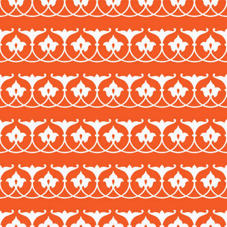 Decorative Asian Folk Seamless Pattern. Ornament of Asian Nomads: Uzbek, Tajik, Bashkirs, Tatars, Yakut, Mongols. Ethnic Vector Illustration for Paper Products, Textiles.