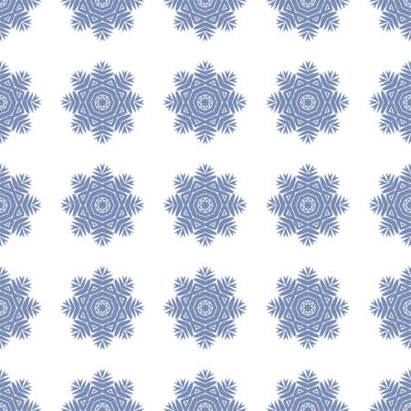 Seamless pattern with snowflakes on background white color for invitation, xmas card or holiday poster.Vector.