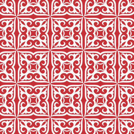 Decorative seamless pattern with ethnic element. Kyrgyz and Kazakh ornaments. Texture for background, cards, invitations, wallpaper, pattern fills, fabrics, gift wrapping, textile. Vector.