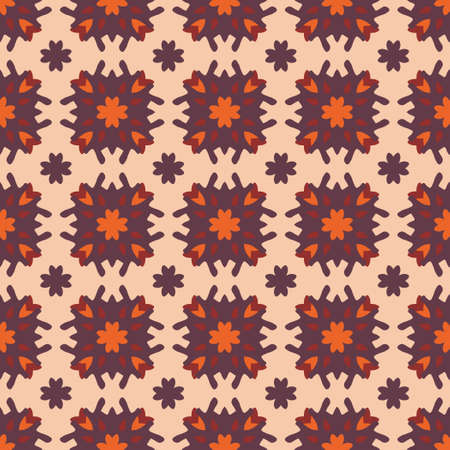 Vector ornamental seamless pattern. Background and wallpaper in ethnic style. Vector illustration can be used for backgrounds, motifs, textile, wallpapers, fabrics, gift wrapping, templates. Illusztráció