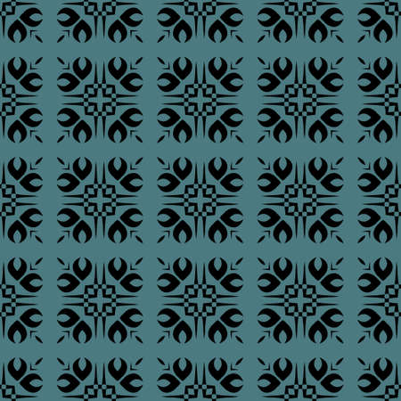 Classic Pattern Ornament, Decorative Seamless Geometric Pattern for Design Wallpaper, Fashion Print, Trendy Decor, Home Textile, Retro Decor Vector Illustration.