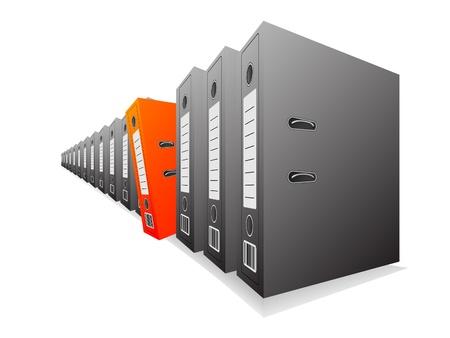 gestion documental: Carpetas de oficina para documentos, necesita uno Vectores