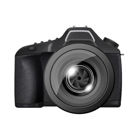 slr camera: professional full-length film (digital) camera Illustration