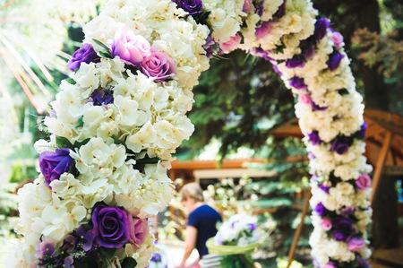 Wedding decorations at ceremony, wedding arch