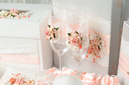Wedding decoration. Luxury wedding with beautiful decor. Stockfoto