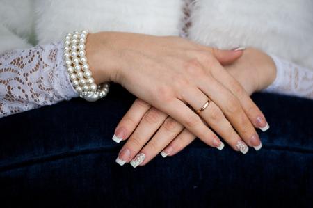 Bride wedding details - wedding white dress for a wife
