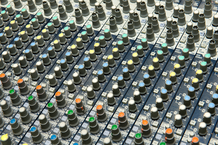 Buttons equipment for sound mixer control, sound equipment.