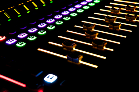 Sound control with LED backlight, sound equipment.