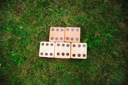 Outdoor games - Big dices on the green gras