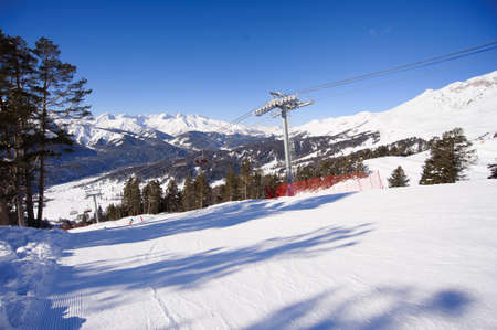 Panoramic view of sport resort for winter vacation. 版權商用圖片
