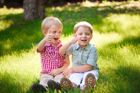 These two boys are best friends. Friends for life.