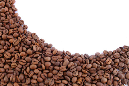spaciousness: coffee beans isolated