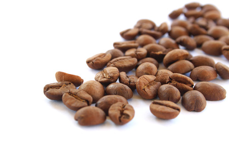 spaciousness: Coffee Beans isolated on white