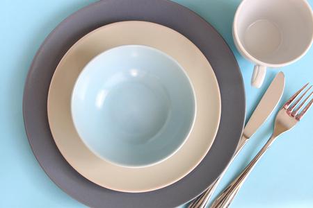 plato de comida: La hora de la cena Foto de archivo