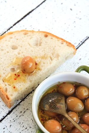 green olives: Green Olives and Bread
