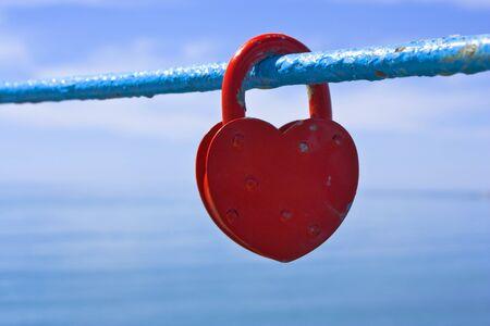 lock in shape of heart Stock Photo - 13340669