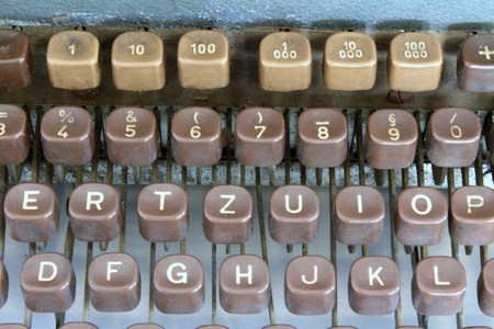 old typewriter: Keyboard of an old typewriter Stock Photo
