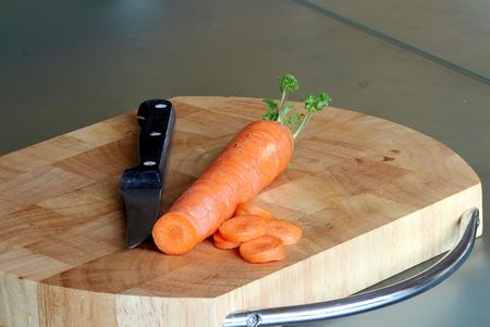 underlay: Eat healthy, cut carrots