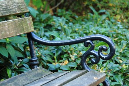 Bench with old metal back Reklamní fotografie