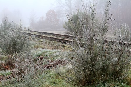 the old railway line Stock Photo