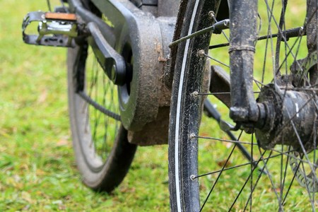 dirty bike after a long tour