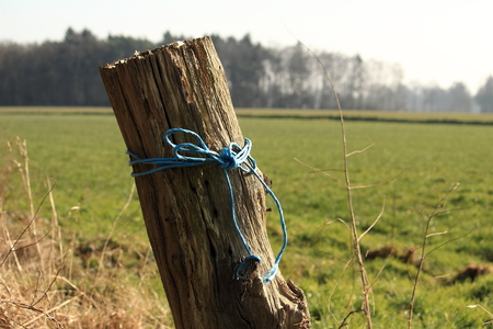 old wicker fence post 写真素材